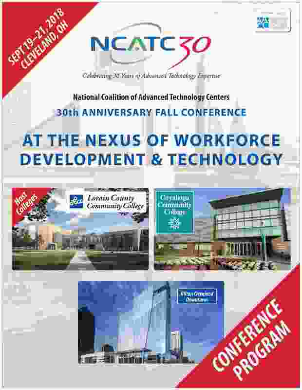 Program title page from 30th anniversary 2018 fall conference for NCATC