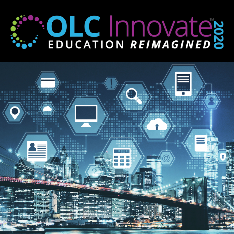 Title page from conference program for 2020 OLC Innovate